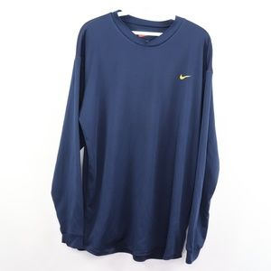 Vintage Nike Long Sleeve Running Gym Shirt Blue